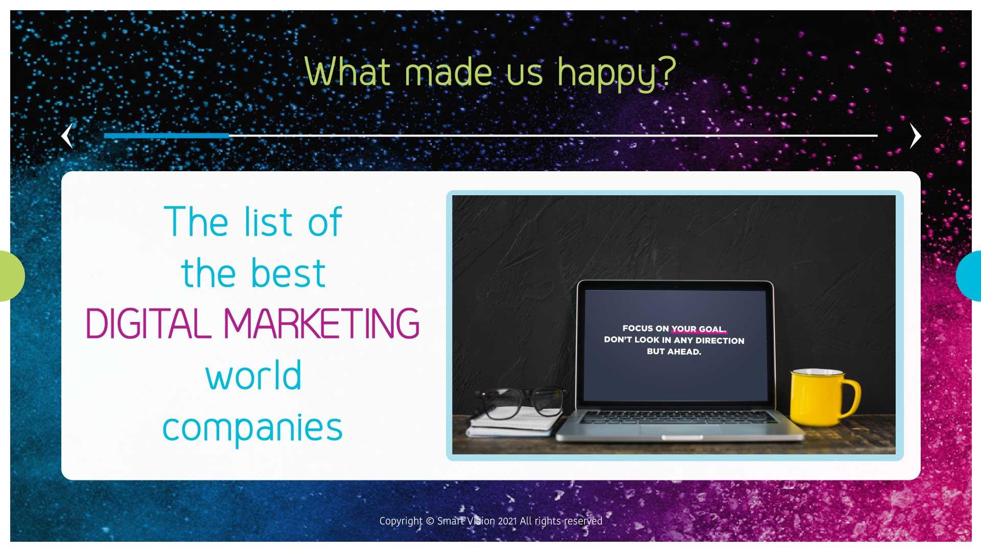 Smart Vison Blog - What Made Us Happy
