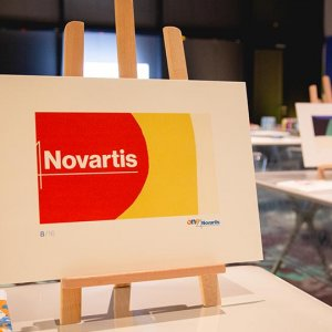 "Novartis Team building <br />""Enlarge the Image"""