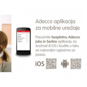 Mobile Application <br /> Adecco Jobs in Serbia